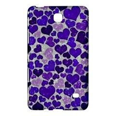 Sparkling Hearts Blue Samsung Galaxy Tab 4 (8 ) Hardshell Case