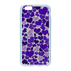 Sparkling Hearts Blue Apple Seamless iPhone 6 Case (Color)