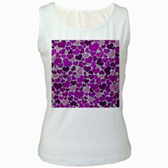 Sparkling Hearts Purple Women s Tank Tops