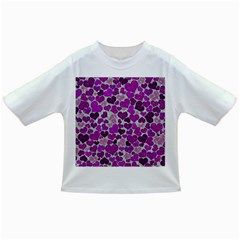Sparkling Hearts Purple Infant/Toddler T-Shirts