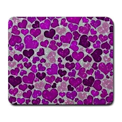 Sparkling Hearts Purple Large Mousepads