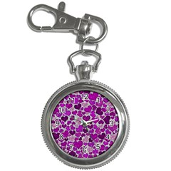 Sparkling Hearts Purple Key Chain Watches