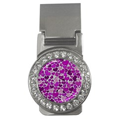 Sparkling Hearts Purple Money Clips (CZ)