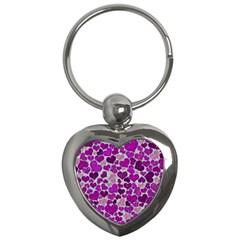 Sparkling Hearts Purple Key Chains (Heart)