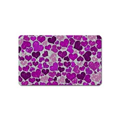 Sparkling Hearts Purple Magnet (Name Card)