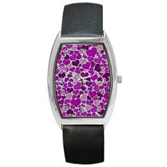Sparkling Hearts Purple Barrel Metal Watches