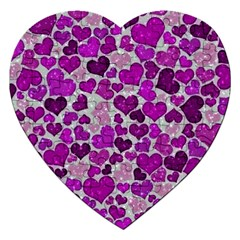 Sparkling Hearts Purple Jigsaw Puzzle (Heart)