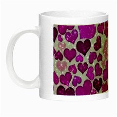 Sparkling Hearts Purple Night Luminous Mugs