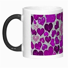Sparkling Hearts Purple Morph Mugs