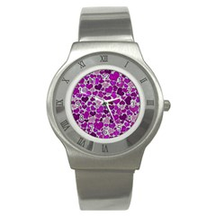 Sparkling Hearts Purple Stainless Steel Watches