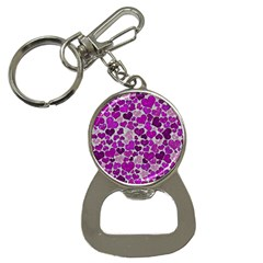 Sparkling Hearts Purple Bottle Opener Key Chains