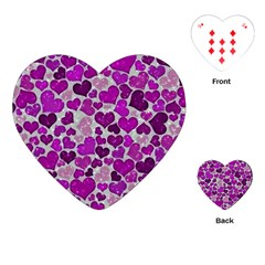 Sparkling Hearts Purple Playing Cards (Heart)