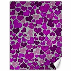 Sparkling Hearts Purple Canvas 36  x 48
