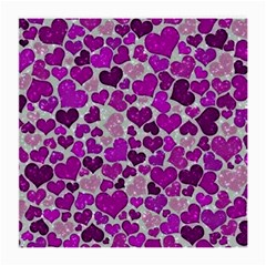 Sparkling Hearts Purple Medium Glasses Cloth