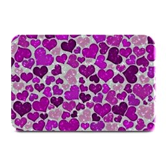 Sparkling Hearts Purple Plate Mats