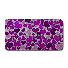 Sparkling Hearts Purple Medium Bar Mats