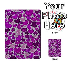 Sparkling Hearts Purple Multi-purpose Cards (Rectangle)