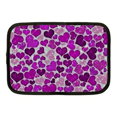 Sparkling Hearts Purple Netbook Case (Medium)