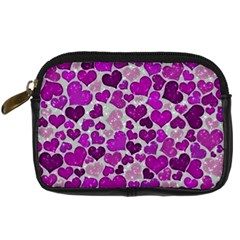 Sparkling Hearts Purple Digital Camera Cases