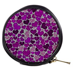 Sparkling Hearts Purple Mini Makeup Bags
