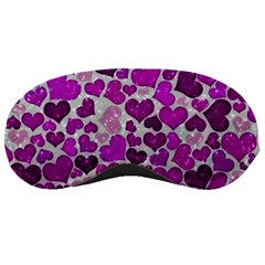 Sparkling Hearts Purple Sleeping Masks