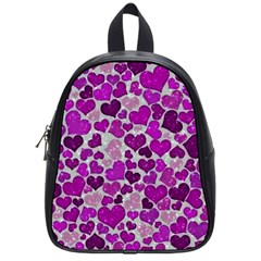 Sparkling Hearts Purple School Bags (Small)