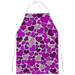Sparkling Hearts Purple Full Print Aprons