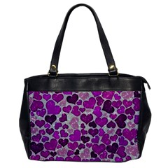 Sparkling Hearts Purple Office Handbags