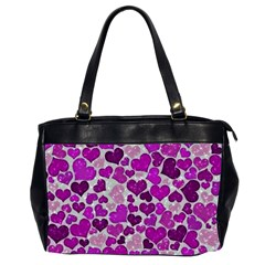 Sparkling Hearts Purple Office Handbags (2 Sides)