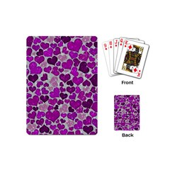 Sparkling Hearts Purple Playing Cards (Mini)