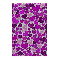 Sparkling Hearts Purple Shower Curtain 48  x 72  (Small)