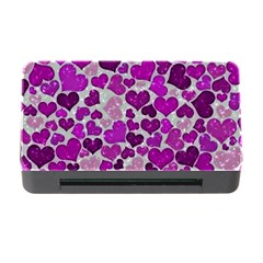 Sparkling Hearts Purple Memory Card Reader with CF