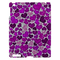 Sparkling Hearts Purple Apple iPad 3/4 Hardshell Case
