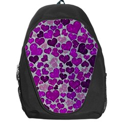 Sparkling Hearts Purple Backpack Bag
