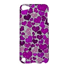 Sparkling Hearts Purple Apple iPod Touch 5 Hardshell Case