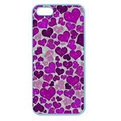 Sparkling Hearts Purple Apple Seamless iPhone 5 Case (Color)