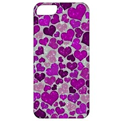 Sparkling Hearts Purple Apple iPhone 5 Classic Hardshell Case
