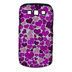 Sparkling Hearts Purple Samsung Galaxy S III Classic Hardshell Case (PC+Silicone)