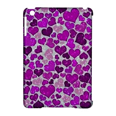 Sparkling Hearts Purple Apple iPad Mini Hardshell Case (Compatible with Smart Cover)