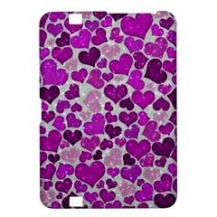 Sparkling Hearts Purple Kindle Fire HD 8.9