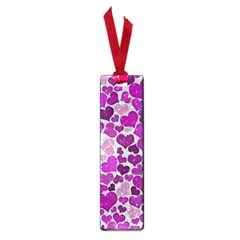 Sparkling Hearts Purple Small Book Marks