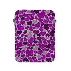 Sparkling Hearts Purple Apple iPad 2/3/4 Protective Soft Cases