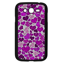 Sparkling Hearts Purple Samsung Galaxy Grand DUOS I9082 Case (Black)