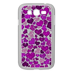 Sparkling Hearts Purple Samsung Galaxy Grand DUOS I9082 Case (White)