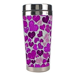 Sparkling Hearts Purple Stainless Steel Travel Tumblers