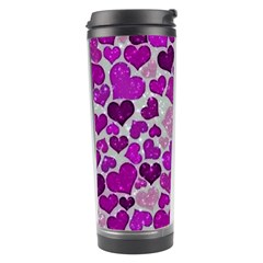 Sparkling Hearts Purple Travel Tumblers