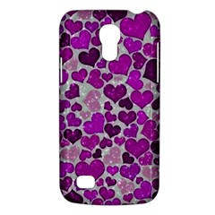 Sparkling Hearts Purple Galaxy S4 Mini