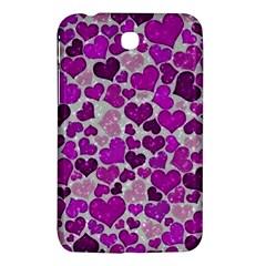 Sparkling Hearts Purple Samsung Galaxy Tab 3 (7 ) P3200 Hardshell Case