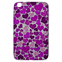 Sparkling Hearts Purple Samsung Galaxy Tab 3 (8 ) T3100 Hardshell Case