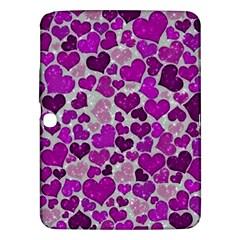 Sparkling Hearts Purple Samsung Galaxy Tab 3 (10.1 ) P5200 Hardshell Case